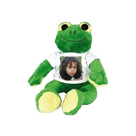 Peluche grenouille 21 cm - Photo